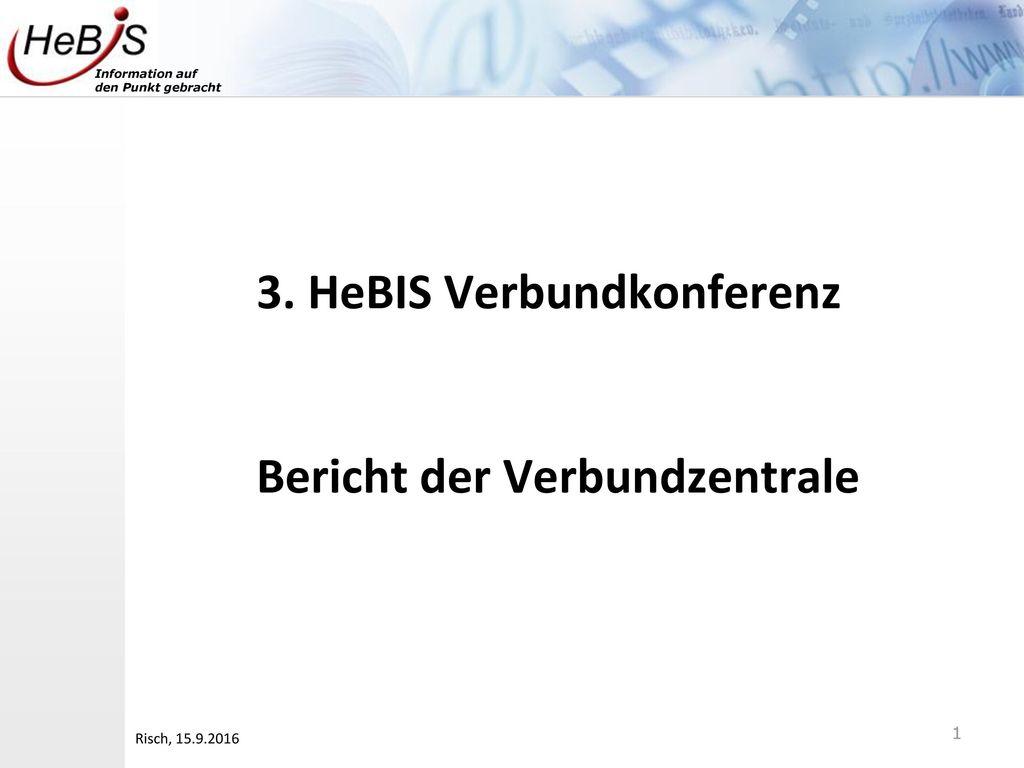3. HeBIS Verbundkonferenz