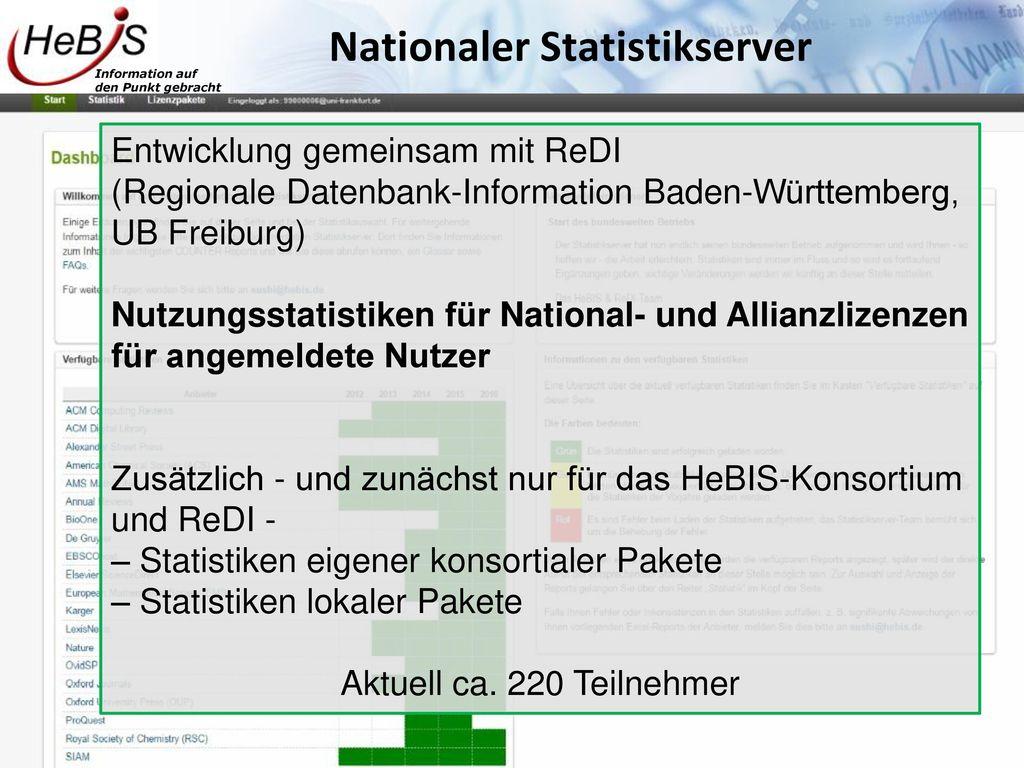 Nationaler Statistikserver