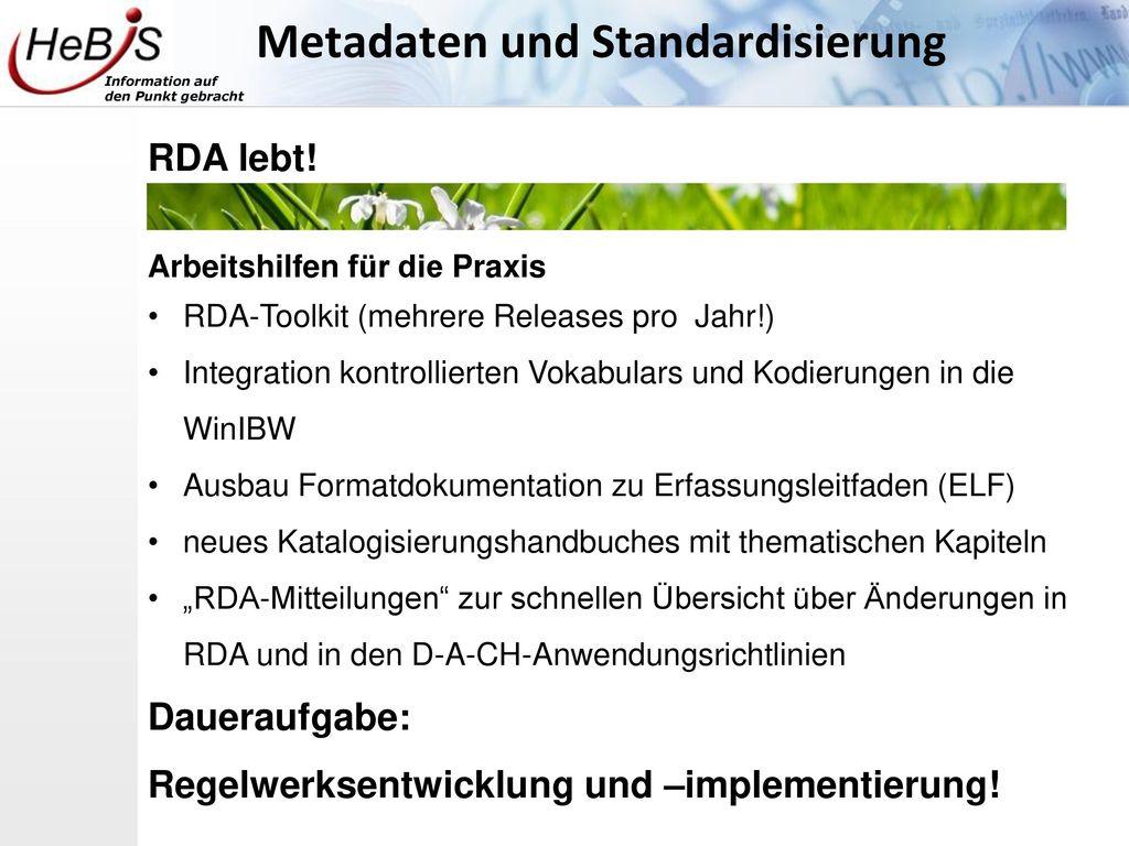 Metadaten und Standardisierung