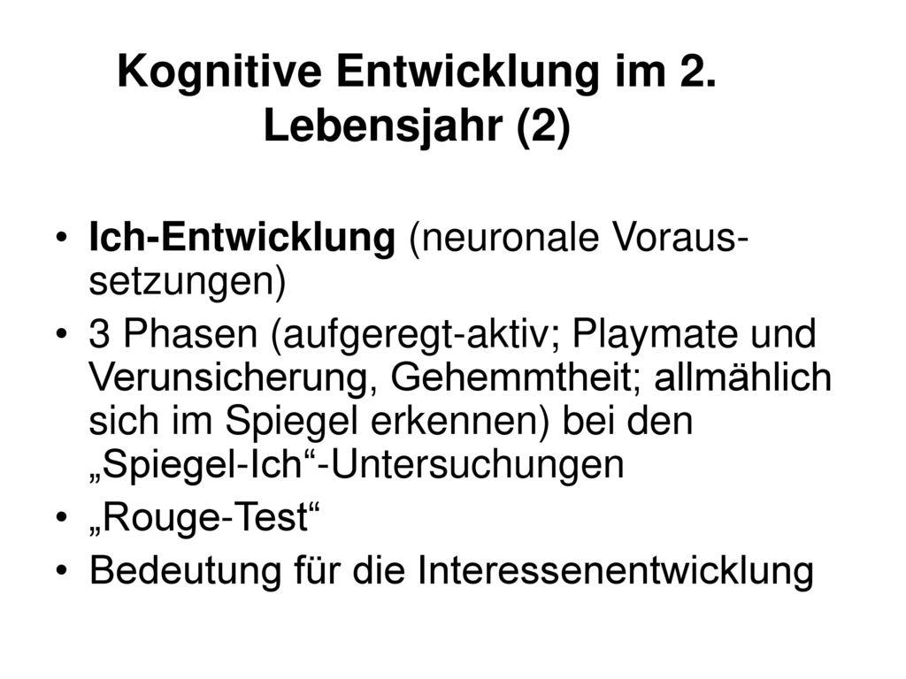 Kognitive Entwicklung im 2. Lebensjahr (2)