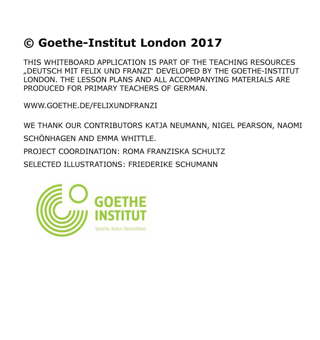© Goethe-Institut London 2017