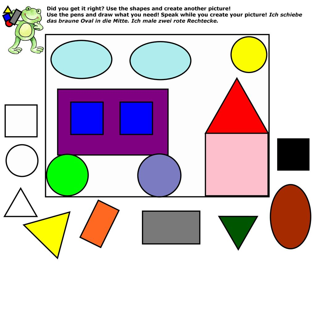 Did you get it right Use the shapes and create another picture!