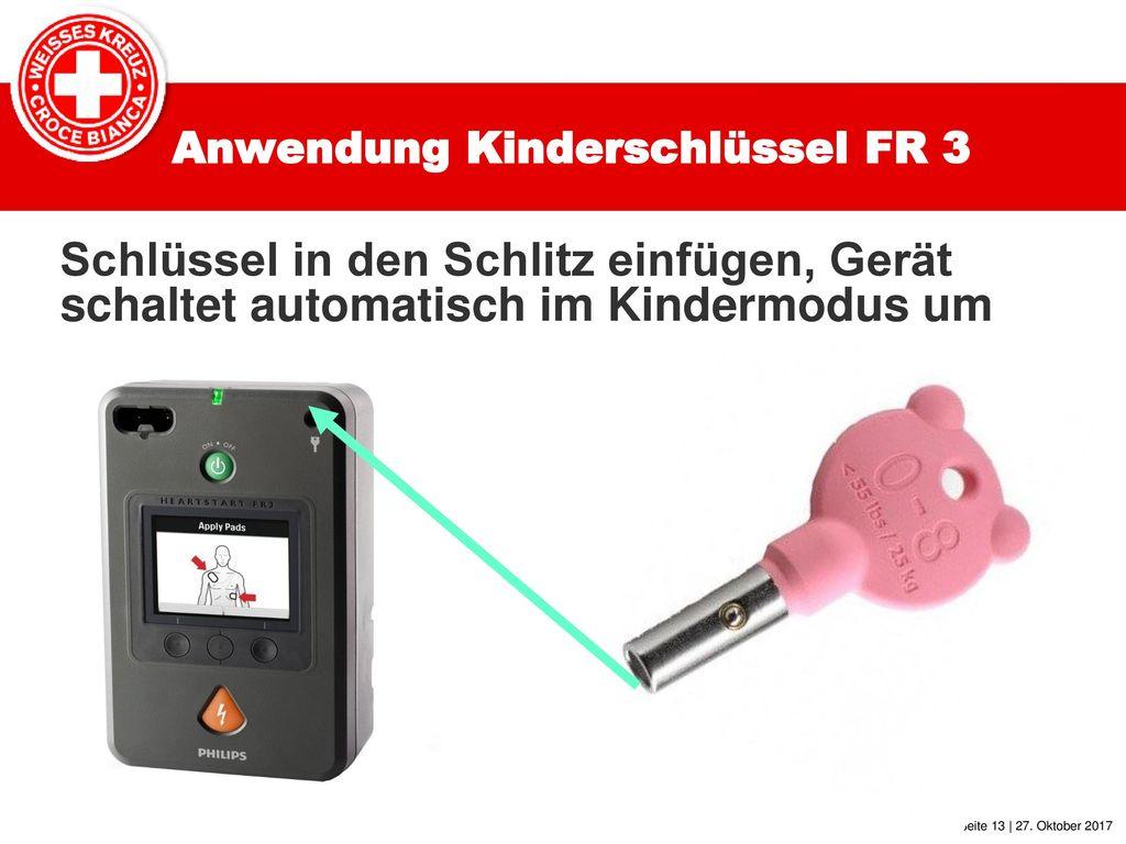 Anwendung Kinderschlüssel FR 3
