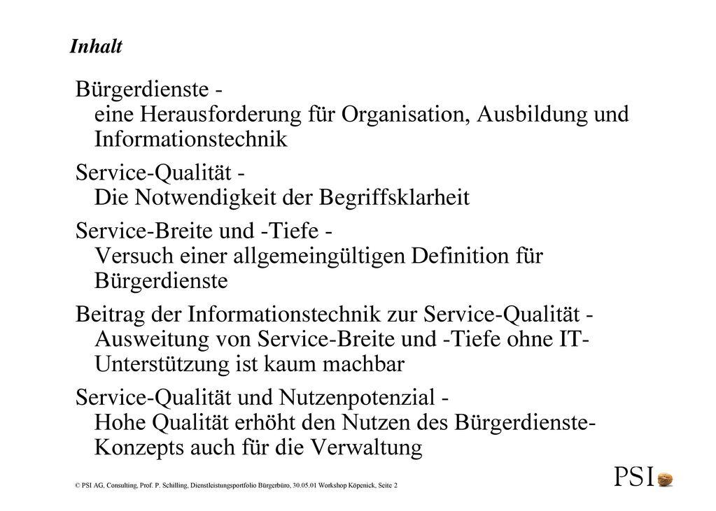 Service-Qualität - Die Notwendigkeit der Begriffsklarheit