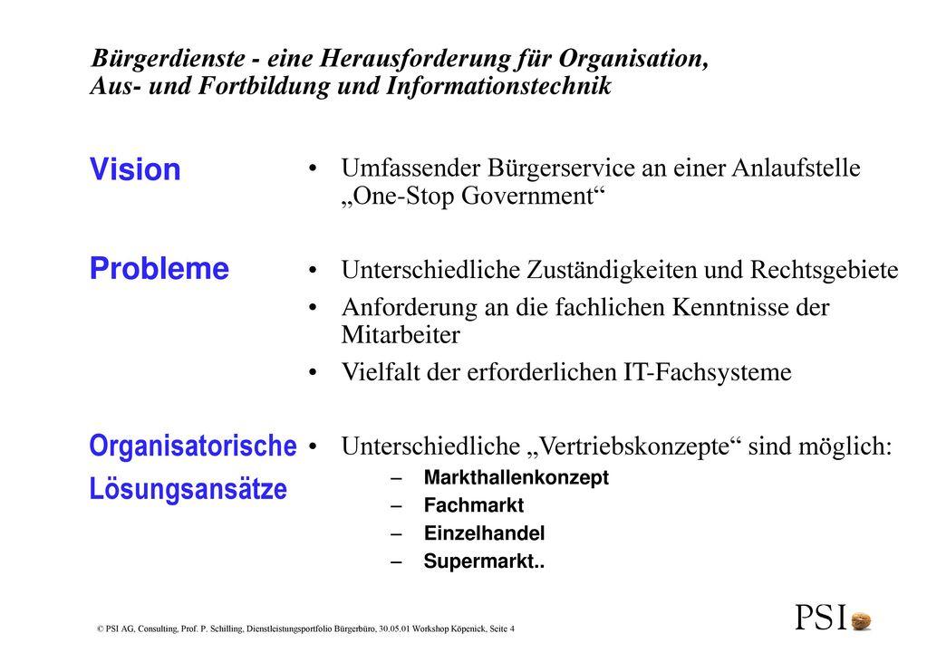 Vision Probleme Organisatorische Lösungsansätze