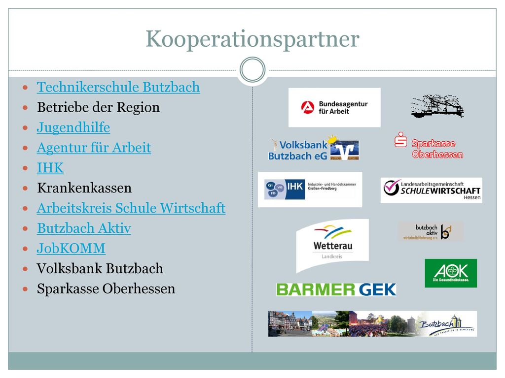 Kooperationspartner Technikerschule Butzbach Betriebe der Region