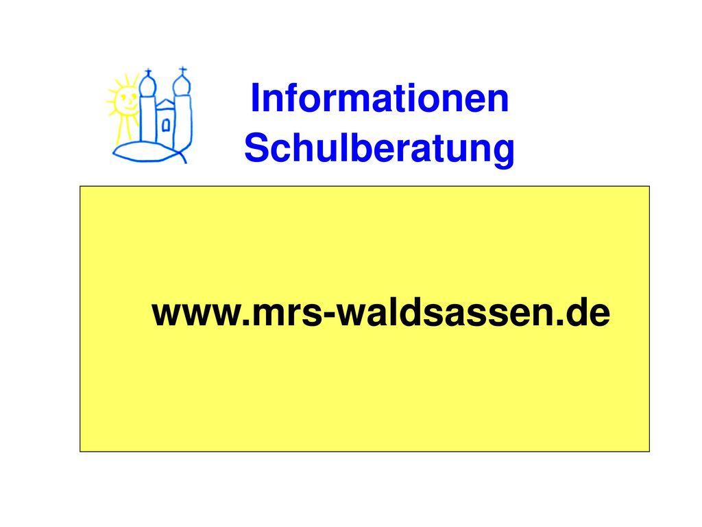 Informationen Schulberatung www.mrs-waldsassen.de