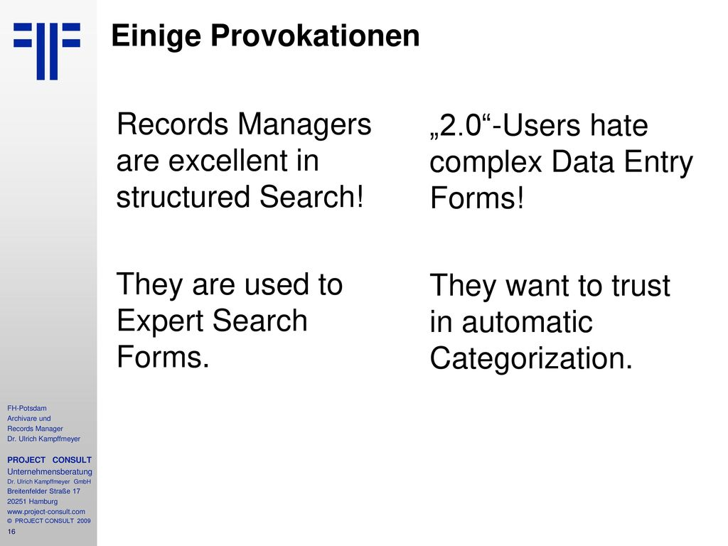 Records Managers love Metadata!