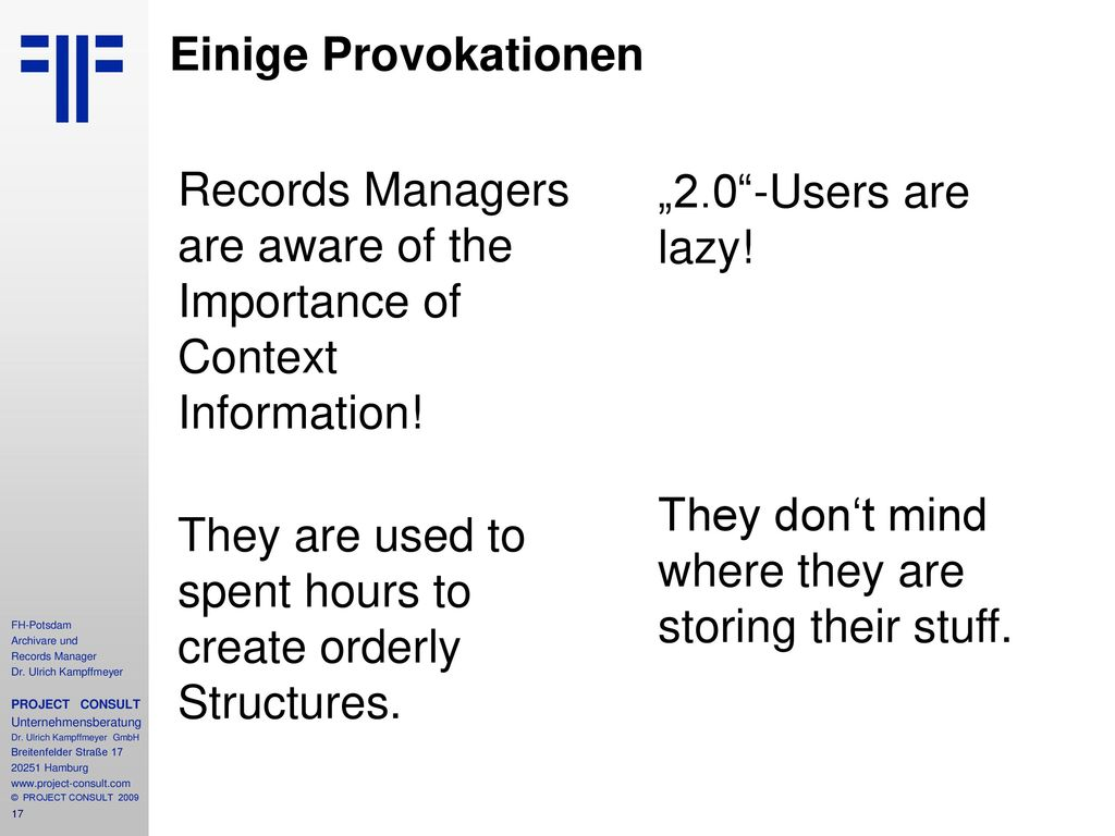 Records Managers are excellent in structured Search!