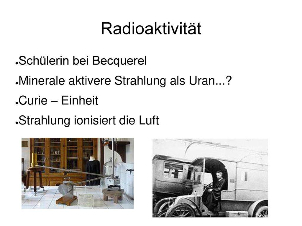 Radioaktivität Schülerin bei Becquerel