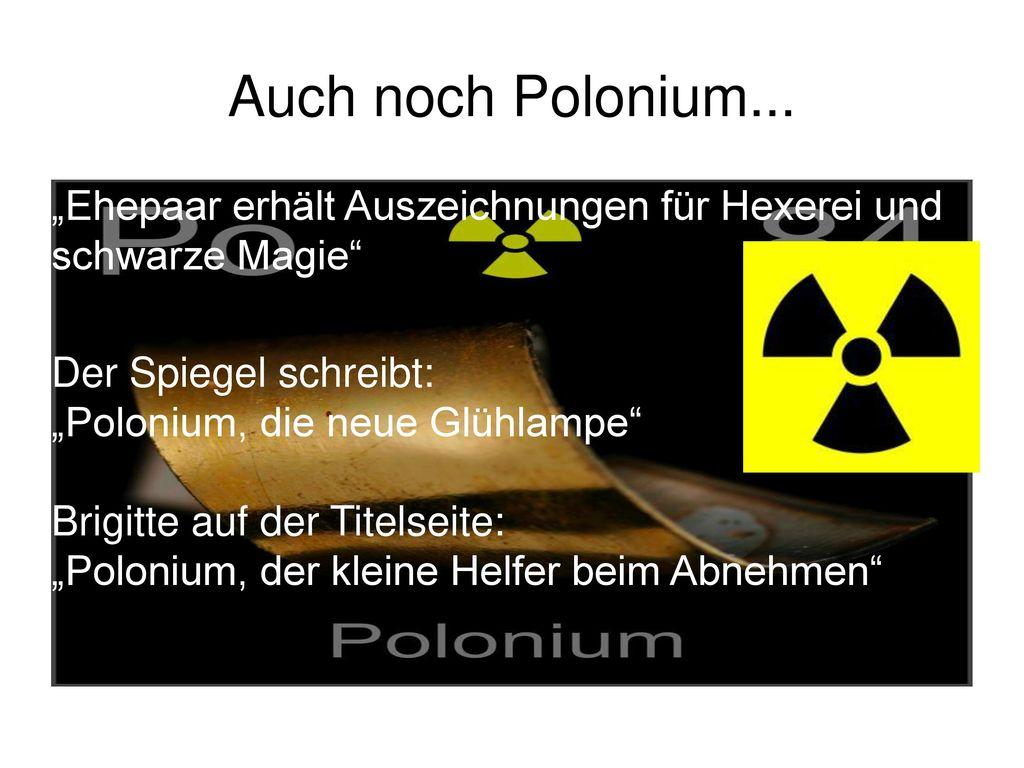 """Auch noch Polonium... """"Ehepaar erhält Auszeichnungen für Hexerei und schwarze Magie"""