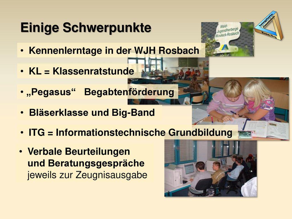 Einige Schwerpunkte Kennenlerntage in der WJH Rosbach