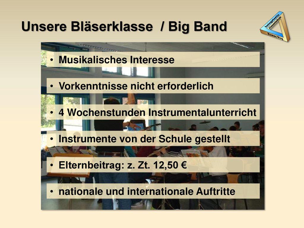 Unsere Bläserklasse / Big Band