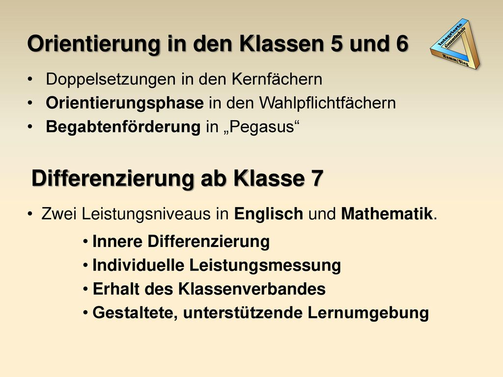 Orientierung in den Klassen 5 und 6