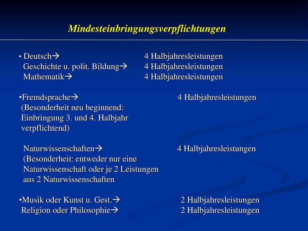 Prüfungen müssen in Deutsch, Mathematik,