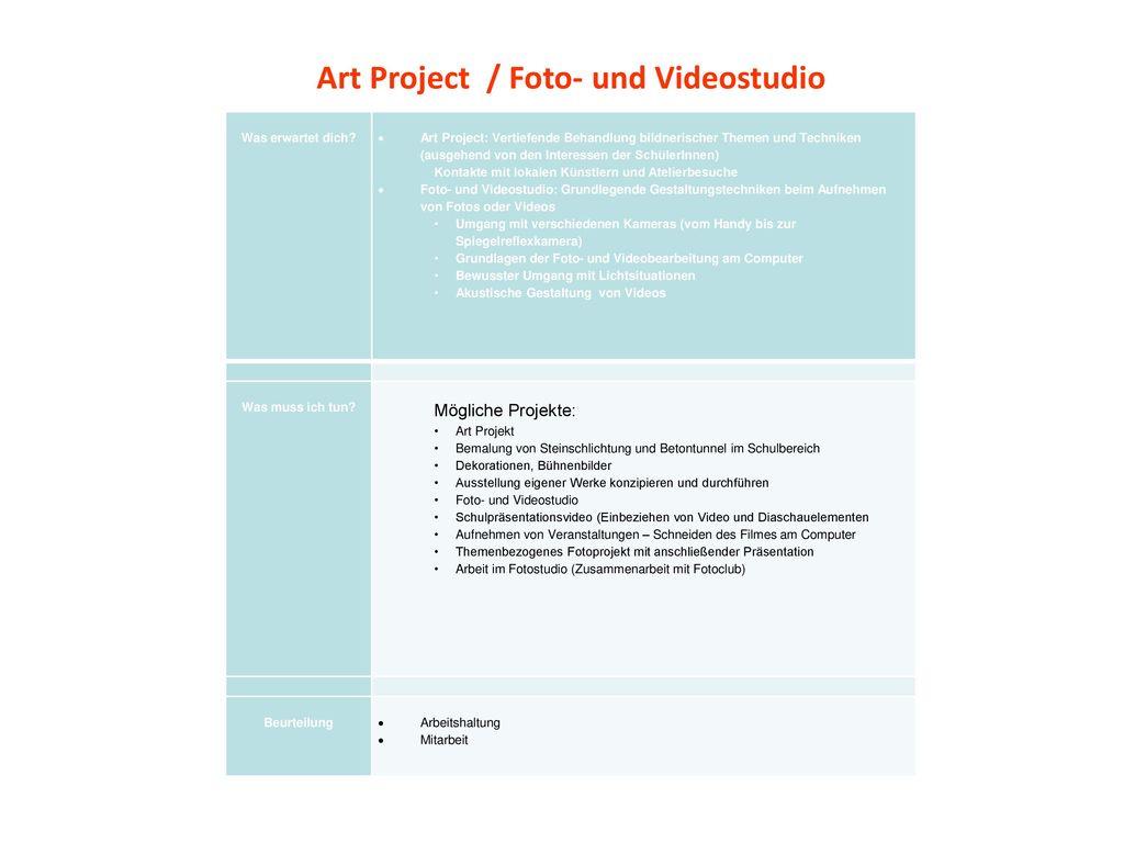 Art Project / Foto- und Videostudio