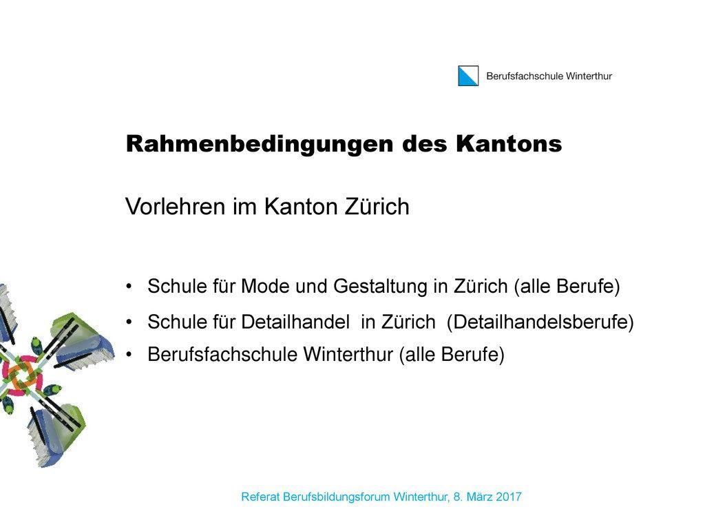 Rahmenbedingungen des Kantons