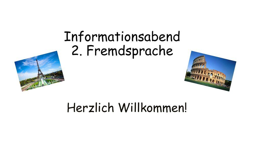 Informationsabend 2. Fremdsprache