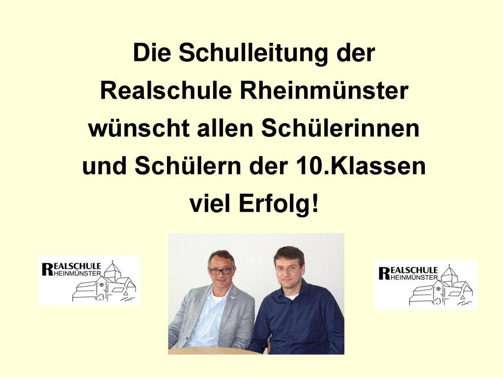Realschule Rheinmünster wünscht allen Schülerinnen