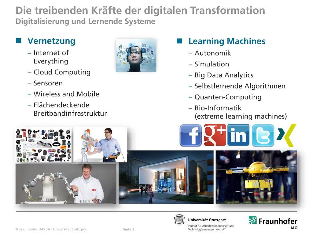 Die treibenden Kräfte der digitalen Transformation Digitalisierung und Lernende Systeme