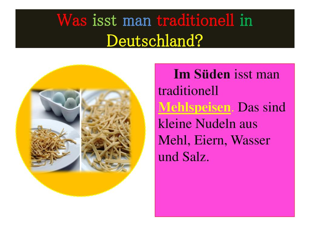 Was isst man traditionell in Deutschland