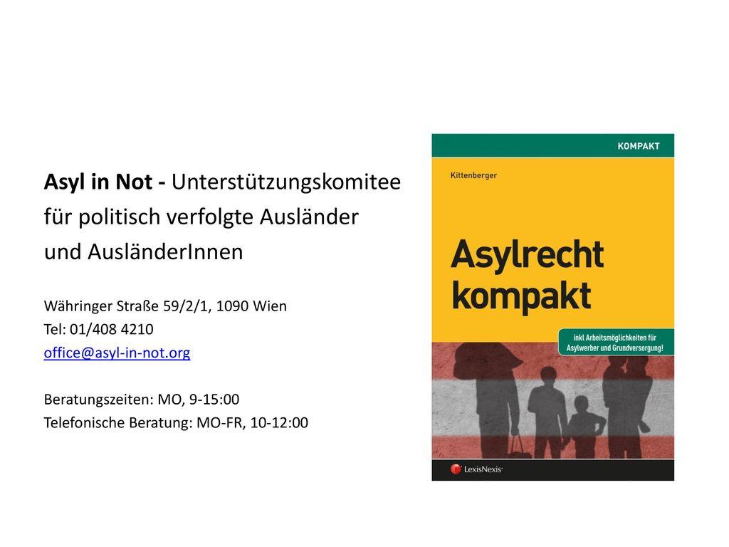 Asyl in Not - Unterstützungskomitee für politisch verfolgte Ausländer