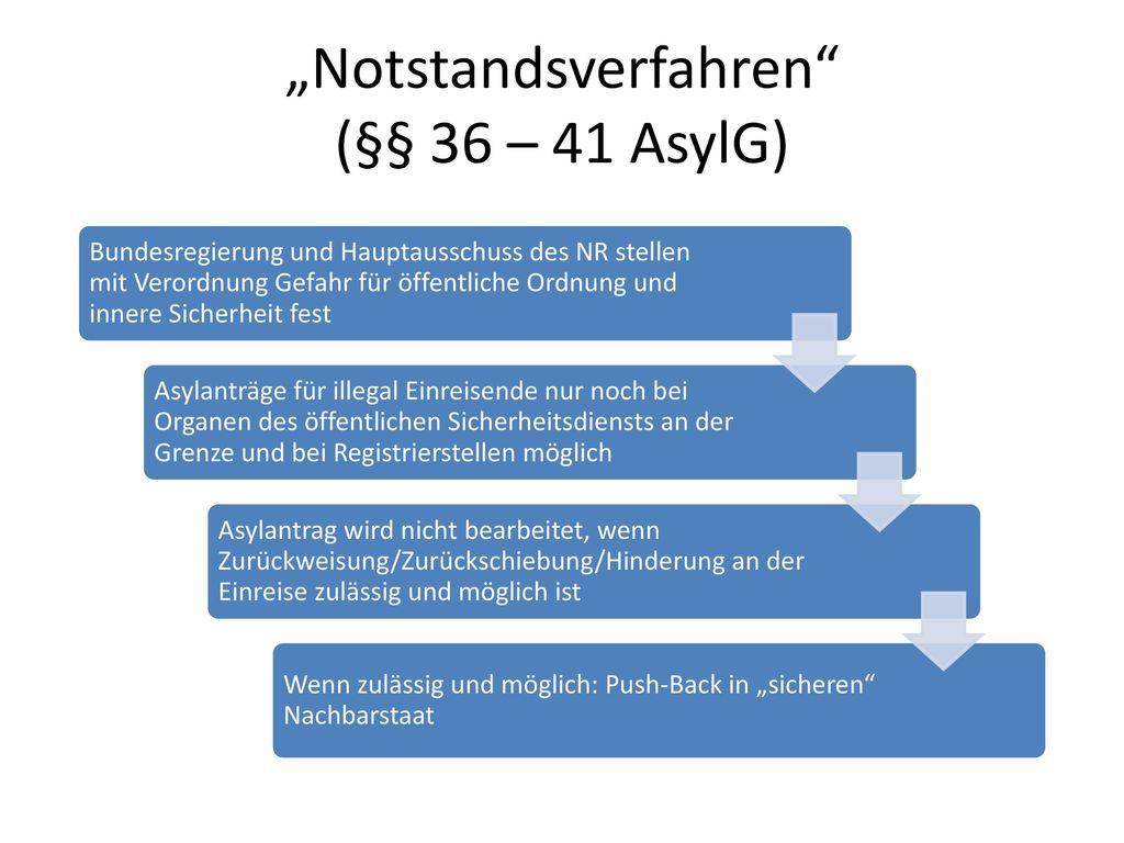 """Notstandsverfahren (§§ 36 – 41 AsylG)"