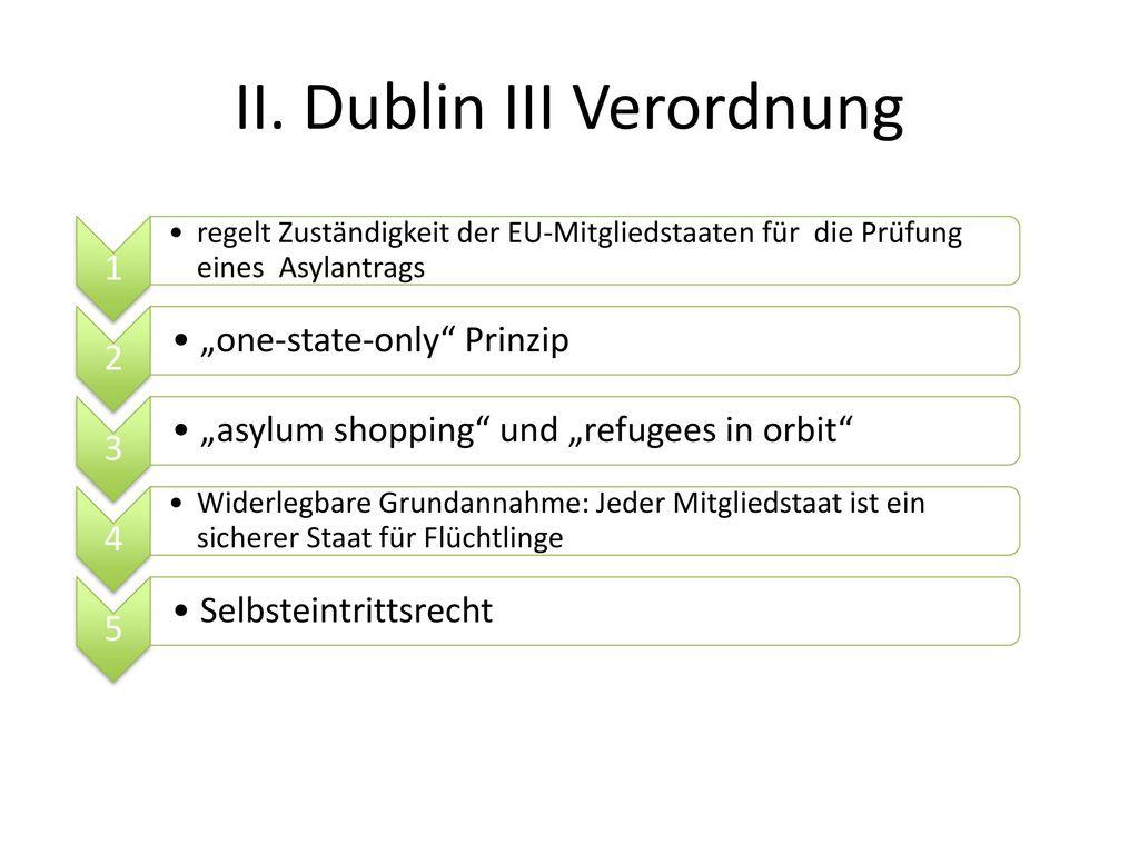 II. Dublin III Verordnung