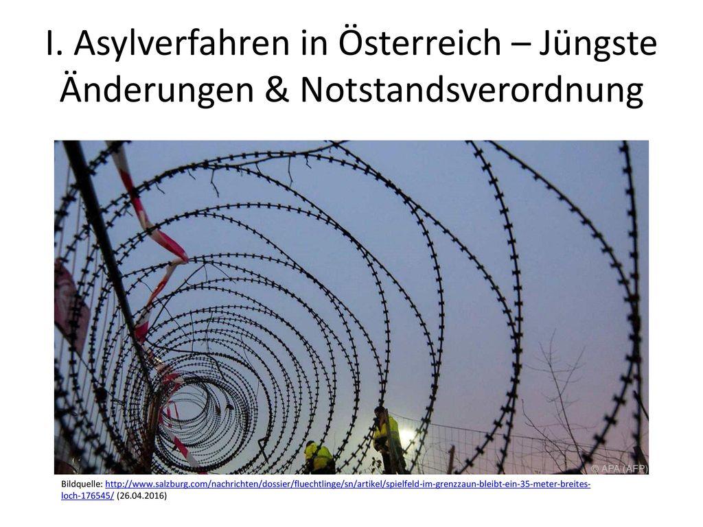 I. Asylverfahren in Österreich – Jüngste Änderungen & Notstandsverordnung