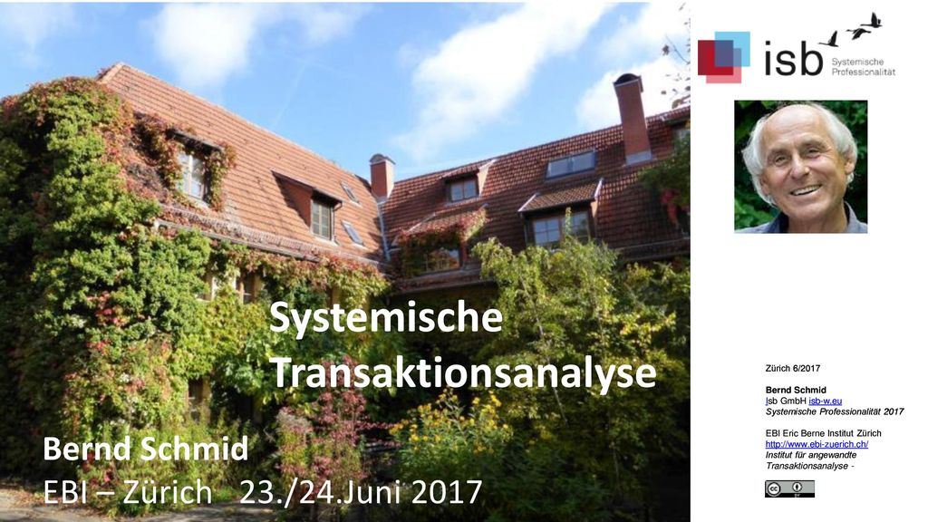Systemische Transaktionsanalyse Bernd Schmid