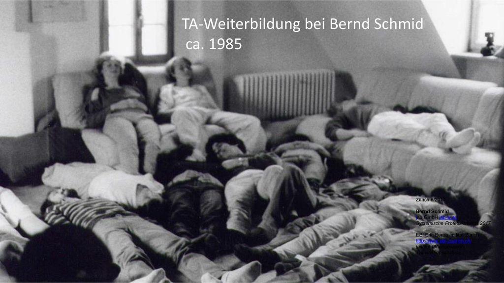 TA-Weiterbildung bei Bernd Schmid ca. 1985