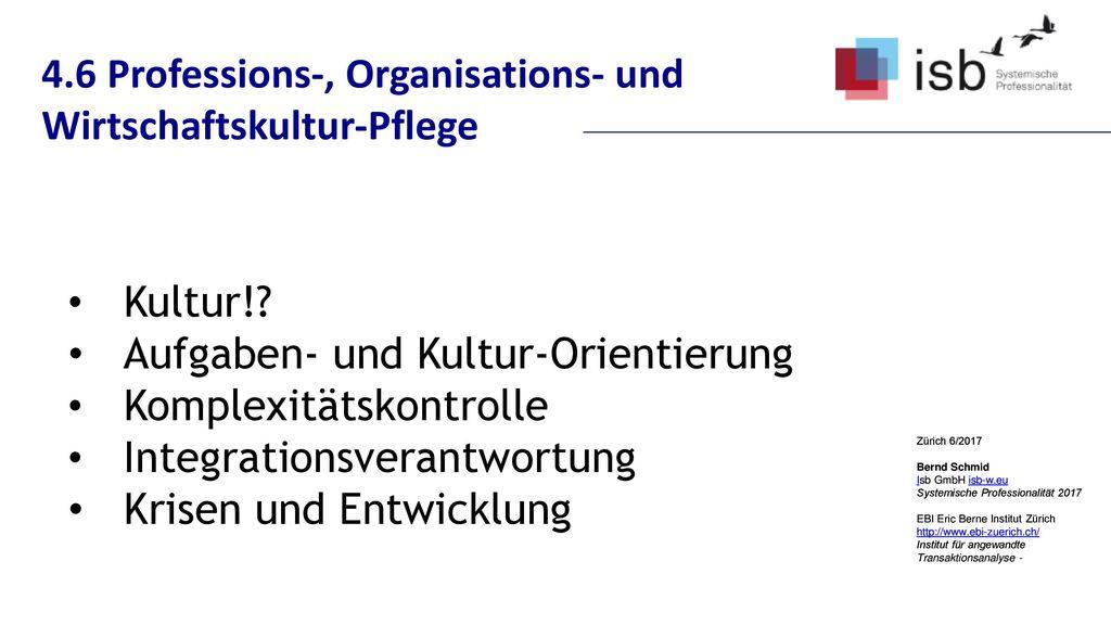 4.6 Professions-, Organisations- und Wirtschaftskultur-Pflege