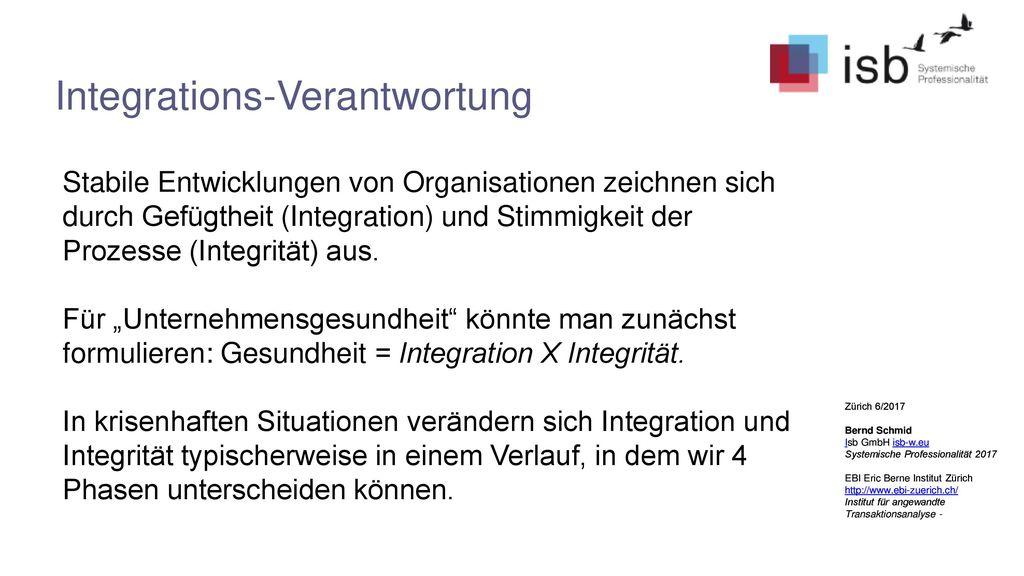 Integrations-Verantwortung