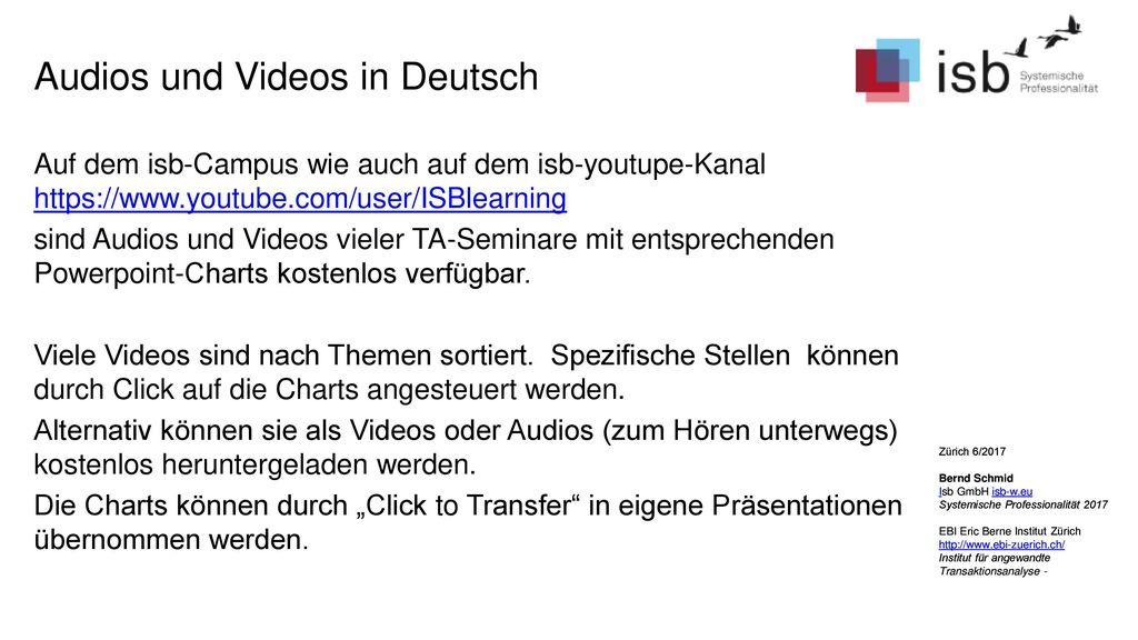 Audios und Videos in Deutsch