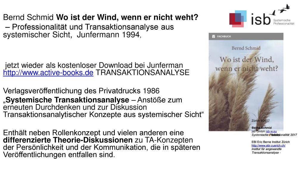 Bernd Schmid Wo ist der Wind, wenn er nicht weht