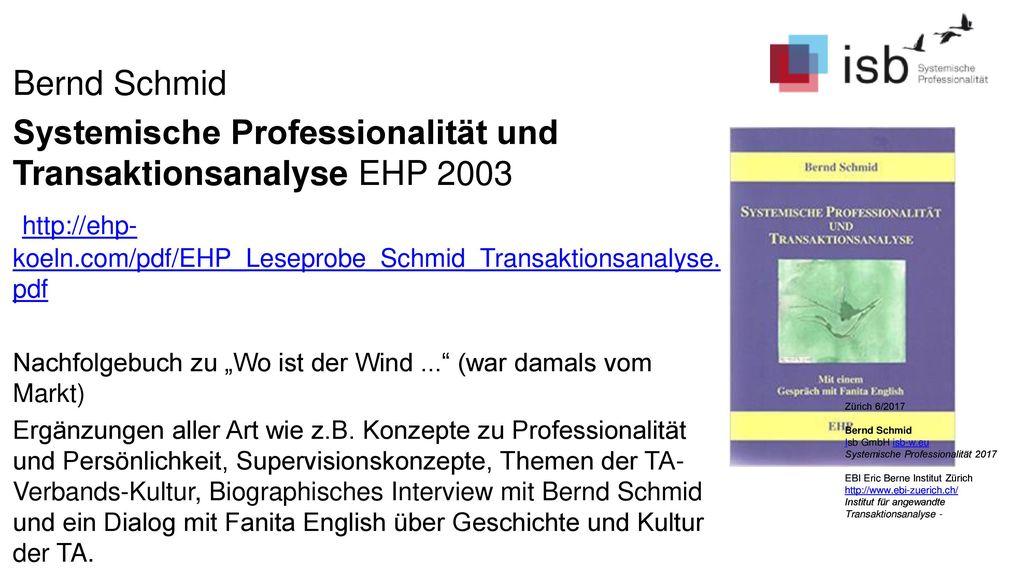Systemische Professionalität und Transaktionsanalyse EHP 2003