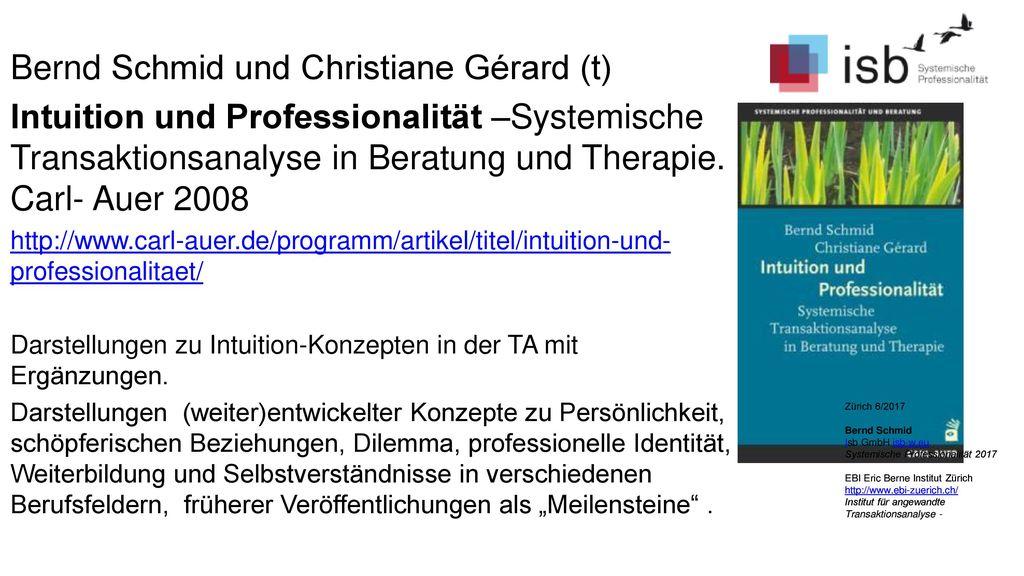 Bernd Schmid und Christiane Gérard (t)