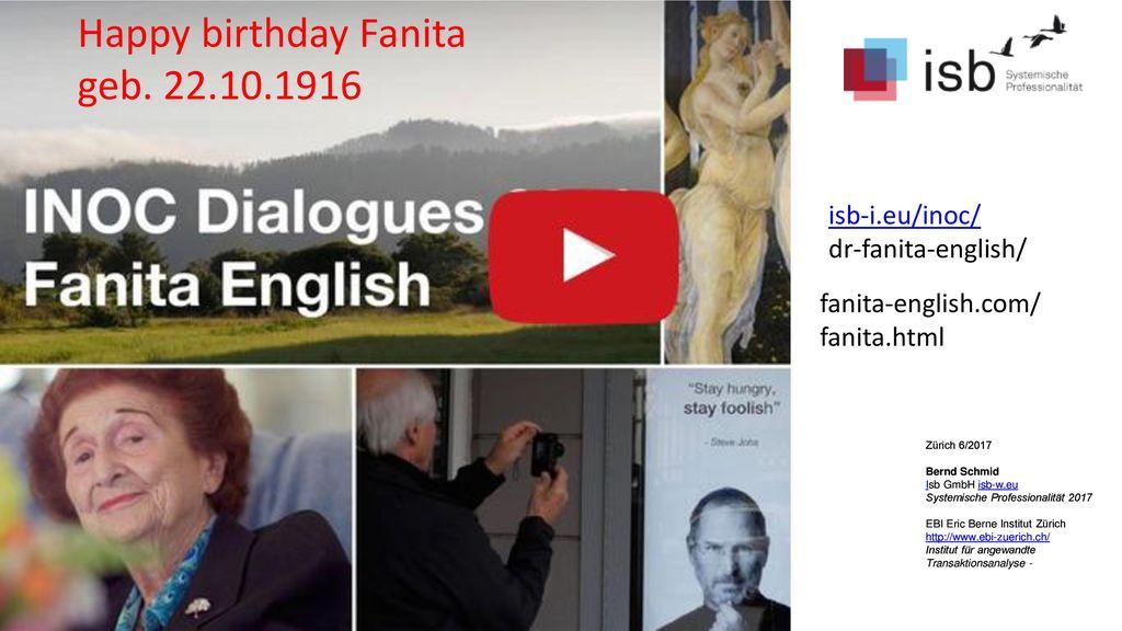Happy birthday Fanita geb. 22.10.1916 Milton Erickson isb-i.eu/inoc/
