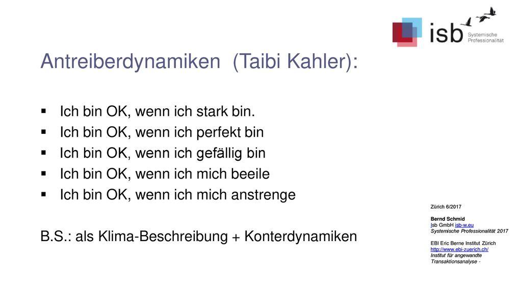 Antreiberdynamiken (Taibi Kahler):
