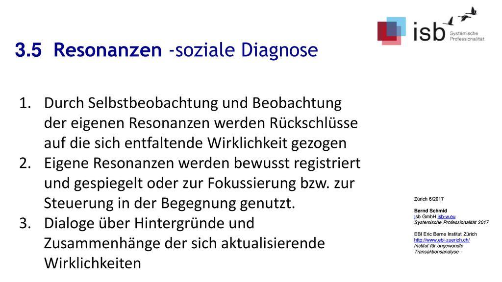 3.5 Resonanzen -soziale Diagnose