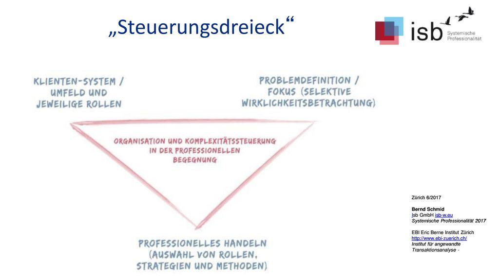 """""""Steuerungsdreieck Zürich 6/2017 Bernd Schmid Isb GmbH isb-w.eu"""