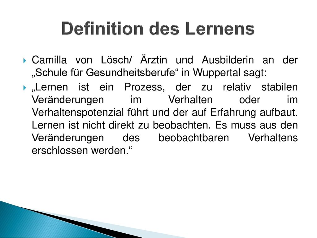 Definition des Lernens