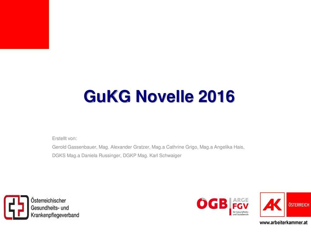GuKG Novelle 2016 Erstellt von: