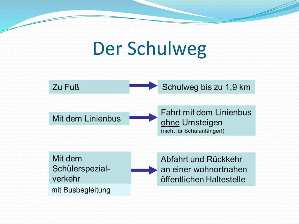 Der Schulweg mit Busbegleitung www.mosaik-schule-mk.de
