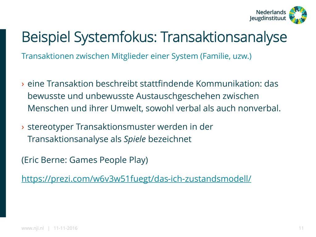 Beispiel Systemfokus: Transaktionsanalyse