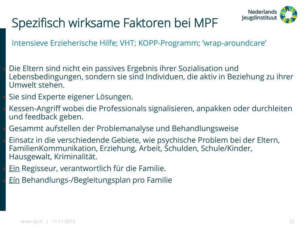 Spezifisch wirksame Faktoren bei MPF
