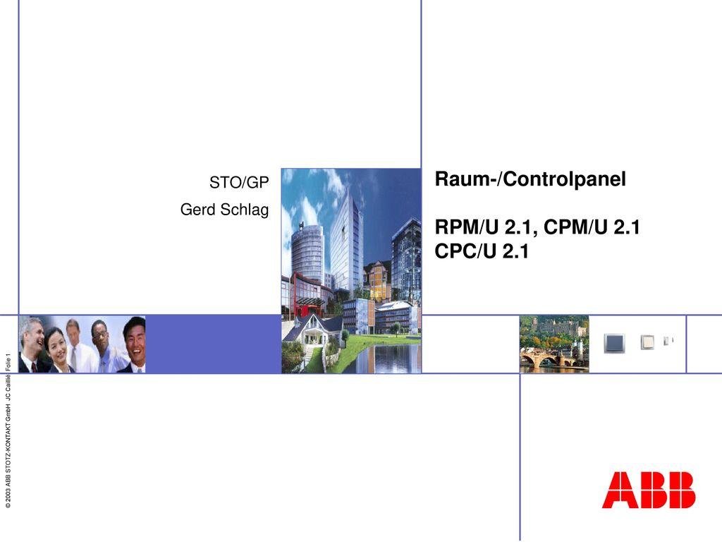 Raum-/Controlpanel RPM/U 2.1, CPM/U 2.1 CPC/U 2.1