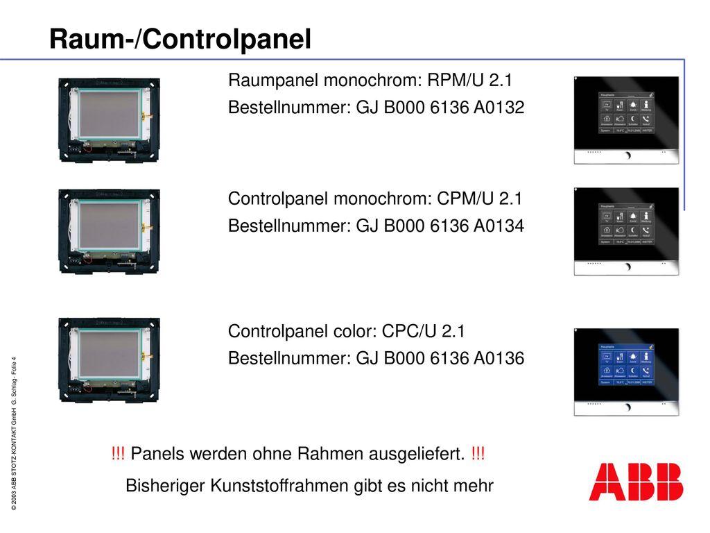 Raum-/Controlpanel Raumpanel monochrom: RPM/U 2.1