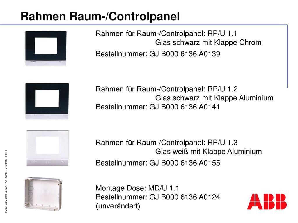 Rahmen Raum-/Controlpanel