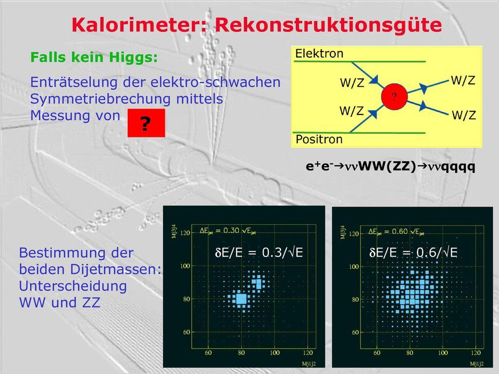 Kalorimeter: Rekonstruktionsgüte